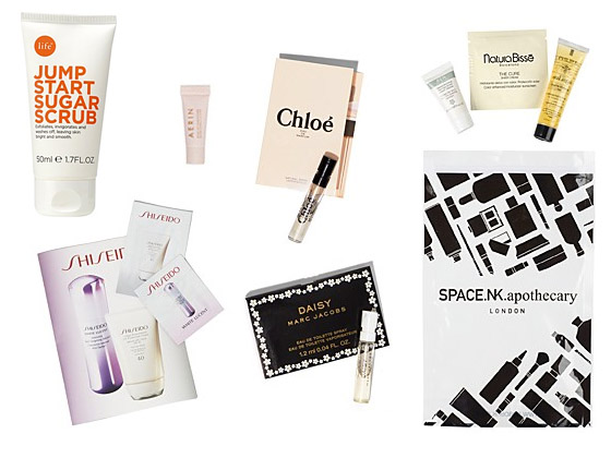 Hacker_Housewife_Bloomingdales_LifeNK_Jump_Start_Sugar_Scrub_Space_NK_Apothecary_AERIN_Rose_Lip_Conditioner_Shiseido_White_Lucent_Serum_Urban_Environment_Sunscreen_Chloe_Eau_de_parfum_Marc_Jacobs_Daisy_Eau_de_toilette_Sample