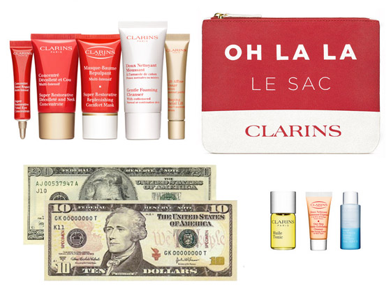 Hacker_Housewife_Clarins_OHLALA_Gilt_City_Le_Sac_Deluxe_Samples_Gift_With_Purchase_Coupon_Stacking